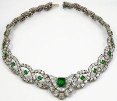 Cartier Diamond Emerald Necklace 2