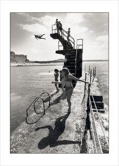 Photo noir et blanc Bretagne, piscine Saint-Malo - L'Affiche Moderne