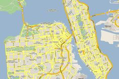 #Manhatten + #SanFrancisco  and other cities ... Manhatten is pretty small actually.. pretty cool site.