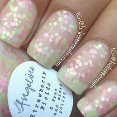 Strawberry Fields - white crelly with matte pastel pink