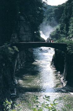Footbridge in Letchworth State Park, New York