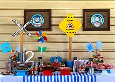 """Photo 1 of 11: Thomas the Train party / Birthday """"Train party"""" 
