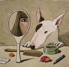 I've just discovered Franco Matticchio, Italian cartoonist/illustrator, who is like a combination of Gary Larson and René Magritte. Weird metaphysical humor, and the guy can really draw! (I don't really 'get' this cartoon, but I love the drawing!)