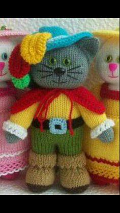 Mesmerizing Crochet an Amigurumi Rabbit Ideas. Lovely Crochet an Amigurumi Rabbit Ideas. Knitted Dolls Free, Knitted Doll Patterns, Animal Knitting Patterns, Crochet Dolls, Easy Crochet Projects, Knitting Projects, Knitting Toys, Knitted Teddy Bear, Little Cotton Rabbits