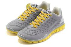 GwYHFROx Nike Free Tr Fit Grey Yellow Silver Women Shoes