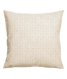 Check this out! Cotton canvas cushion cover with a printed pattern at front. Concealed zip. - Visit hm.com to see more.