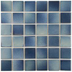 "Found it at Wayfair - Arthur 2"" x 2"" Porcelain Mosaic Tile in Stream"