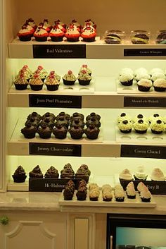 Cupcake shop shelving idea