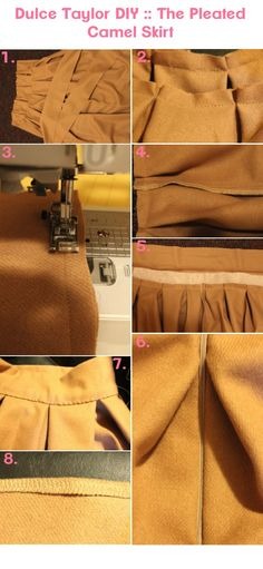 Dulce Taylor: DIY :: Camel Pleat Skirt