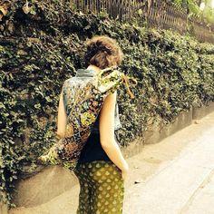 Boho Handmade Yoga Mat Bag in Sweet Lime - AVAILABLE now - Yoga Tote, Yoga Mat Carrier, Yoga Bag, Bright Boho Style
