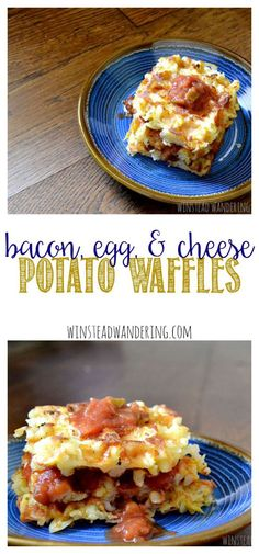 bacon, egg, and cheese potato waffles - winstead wandering
