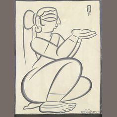 Bonhams Fine Art Auctioneers & Valuers: auctioneers of art, pictures, collectables and motor cars Indian Traditional Paintings, Indian Contemporary Art, Indian Art Paintings, Indian Folk Art, Indian Artist, Jamini Roy, Bengali Art, Worli Painting, Art Drawings Sketches
