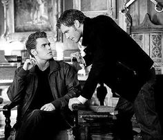 Stefan Salvator with Klaus Mikaelson...... My Favs <3