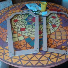 Modetelar en mosaico.
