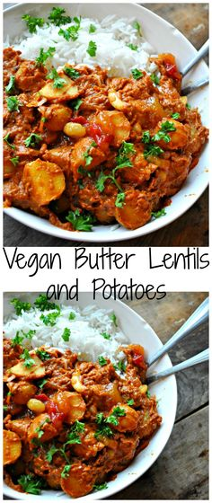 Vegan Butter Lentils and Potatoes - Rabbit and Wolves. One pot, incredibly easy, super duper incredibly delicious! This simplified Indian dish is total perfection!