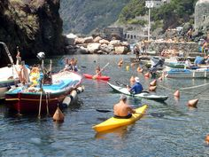 Porticciolo di Framura, Liguria Arrivo in kayak