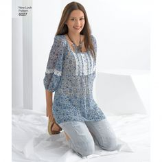 New Look 6027 Misses' Tunic or Top Sewing Pattern
