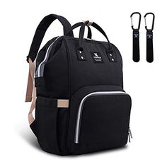 A diaper bag or nappy bag is a storage bag with many pocket-like spaces that is big enough to carry everything needed by someone taking care of a baby while taking a typical short outing. Black Diaper Bag, Best Diaper Bag, Large Diaper Bags, Baby Diaper Bags, Nappy Bags, Fashionable Diaper Bags, Nappy Changing Bags, Changing Pad, Diaper Bag Backpack