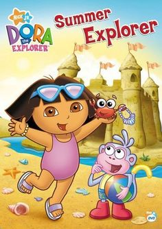 Dora and Boots invite their friends to have some fun in the sun with the new release of Dora the Explorer: Summer Explorer! This release features 4 new to DVD e Dora Toys, Anime Rating, Dora The Explorer Images, Crystal Kingdom, Baby Alive, Kids Tv, Toy Collector, Head Start, Children And Family