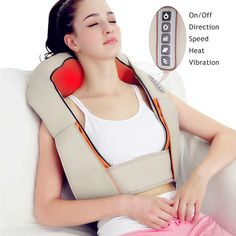 U Shape Electrical Shiatsu Back Neck Shoulder Body Massager Car&Home Use Infrared Stress Relieve Massage Belt Massage Tool Shoulder Massage, Back Massager, Massage Machine, Massage Tools, Massage Roller, Muscle Recovery, Muscle Pain, How To Relieve Stress, Health