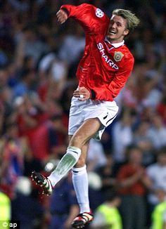 Beckham was right at the heart of Uniteds stunning comeback in the 1999 Champions League final