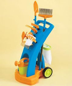 12-Pc. Gardening KIDS TOY Trolley Playset  Organic kids Products  http://organicproducts.gr8.com