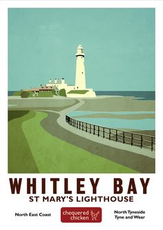 Need to buy this Posters Uk, Railway Posters, Cool Posters, Lighthouse Photos, British Travel, Tourism Poster, Illustrations, Advertising Poster, Vintage Travel Posters