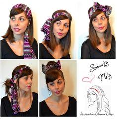 Cinq idées de coiffures avec un foulard @Melanie Fontana
