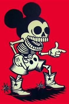Mickey Muertos☆ http://www.creativeboysclub.com/tags/we-love-skulls