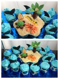 Beach party Kids Beach Party, Beach Kids, Cake Creations, Shower Ideas, Party Ideas, Wedding Ideas, Desserts, Food, Tailgate Desserts