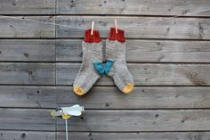 Hand knit wool women socks for women in size Used grey yarn is from West Yorkshire Spinners ltd. Weight of yarn is aran, therefore they are nice warm and thick. Knit Socks, Knitting Socks, Hand Knitting, Women Socks, West Yorkshire, Dinosaur Stuffed Animal, Colours, Warm, Nice