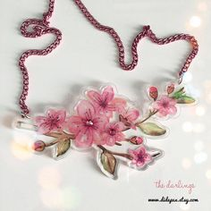 i love cherry blossom! my watercolour drawing printed in laser cut acrylic plexiglas!