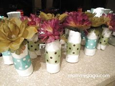 Mini-baby-diaper-rolls-shower-centerpiece-decorations