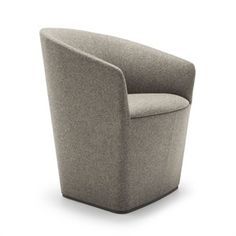 Upholstered fabric easy chair with armrests BRANDY Sofa Chair, Tub Chair, Armchair, Large Office Furniture, Contract Furniture, Chair Design, Dining Chairs, Lounge Chairs, Sofas