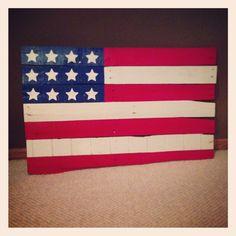 Pallet rehab #diy #america #flag