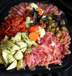 No Bake Night at our house -   Antipasto platter, crackers & breads, hummus & fruit platter - sounds wonderful!