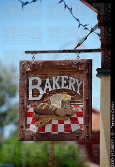 Australia, Toodyay, Bakery sign, Stock Photo, Picture And Rights Managed Image.