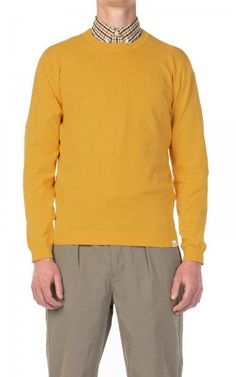 Solid Prospero Mens Jumper Chunky Knit Pullover with Shawl Collar Made of 100/% Cotton