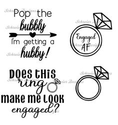 Wedding Clip Art Engaged AF Svg Dxf Cricut Cut Files Commercial Use SVG Wedding SVG Funny Engagement Svg Silhouette Cut Files