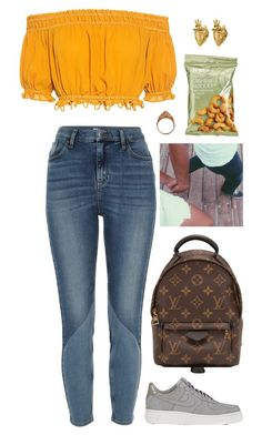 """""""Unbenannt #3050"""" by avonearth ❤ liked on Polyvore featuring Apiece Apart, River Island, NIKE, Louis Vuitton, Bijoux Coquette and StrangeFruit"""
