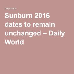 Sunburn 2016 dates to remain unchanged – Daily World