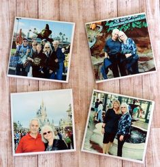 Personalized Photo Coasters, Memory Photo Coaster Set to Remember Vacations, Special Occasions or People, Mother's Day Gift Birthday Gifts For Grandma, Grandma Gifts, Photo Coasters, Personalized Coasters, Vacation Memories, College Gifts, Ceramic Coasters, Great Housewarming Gifts, Photo Memories