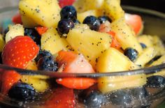 Fruit Salad with Honey Poppy Seed Dressing | The Cooking Mom