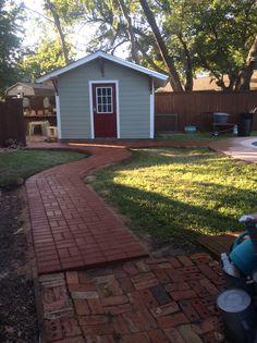 GroundScape build a paver path. Paver Path, Landscaping Company, Sidewalks, Walkways, Paths, Concrete, Garage Doors, Education, Landscape