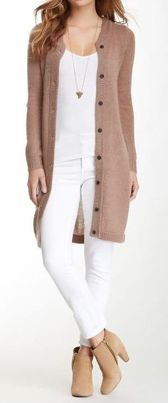 Long Knit Cardigan #fall #fashion