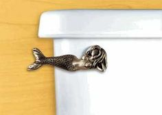 Laying Mermaid Toilet Flush Handle | Coastal Style Gifts #bathroom #accessories #products