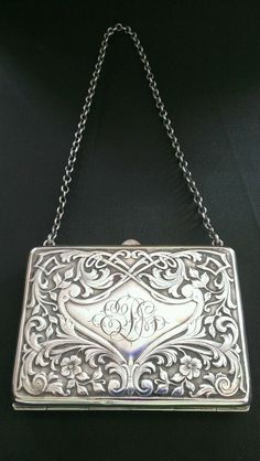 Sterling Silver Purse evening dance card case wallet