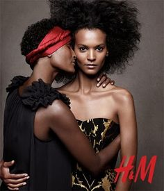 EVER WANTING: LIYA KEBEDE & WARIS DIRIE FOR H & M WINTER HOLIDAY CAMPAIGN AD