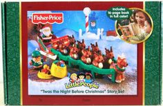 With this Fisher Price Twas the Night Before Christmas Reindeer Story Set, your children can retell the classic Christmas tale by themselves. Santa and his sleight, Rudolph, 8 reindeer, and elf and more are included. Cool Toys For Boys, Kids Toys, 8 Reindeer, Christmas Tale, Twas The Night, Story Setting, Santa Sleigh, The Night Before Christmas, Fisher Price