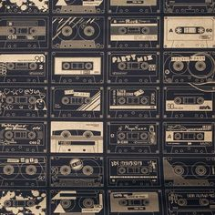 Bodie and Fou Mini Moderns C60 Cassettes Wallpaper. For the recording studio in my dream house. :)